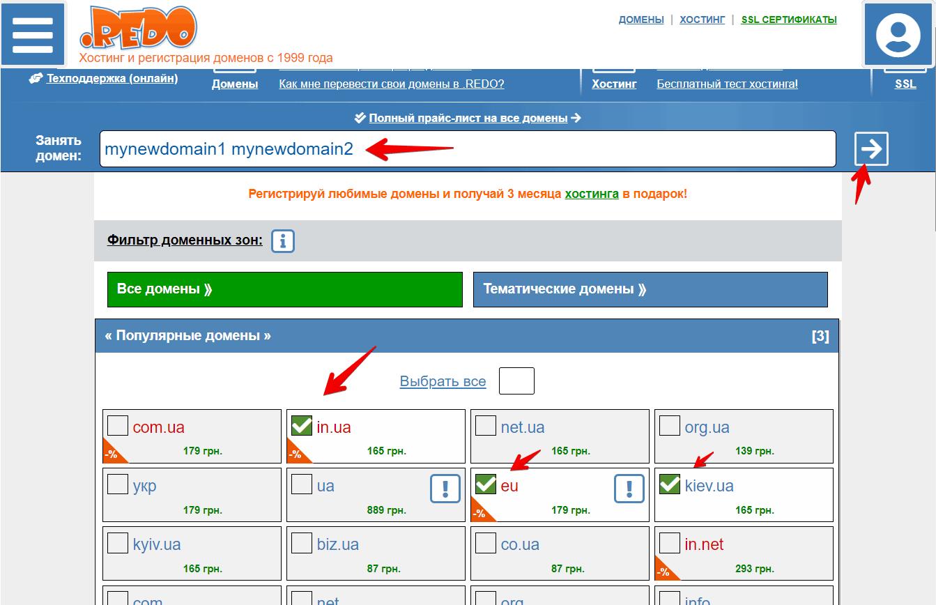 Поиск домена в .REDO